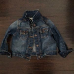 Baby girl jean jacket excellent condition!